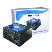 FONTE ATX 420W 24 PINOS 2 SATA HIGH POWER LED AZUL - MYMAX