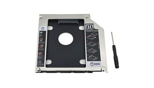 ADAPTADOR DVD P/ HD/SSD NOTEBOOK DRIVE CADDY 12.7MM