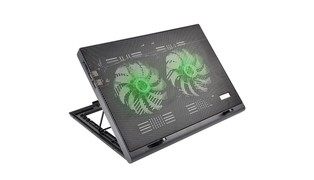 BASE NOTEBOOK COOLER LED VERDE AC267 - MULTILASER