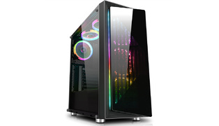 GABINETE GAMER FOX II CG-03RE 1FAN RGB RAINBOW - KMEX