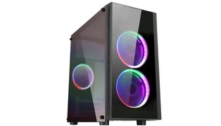 GABINETE GAMER NARNIA II CG-02RA MICRO ATX USB 3.0 DOUBLE RING LED - KMEX