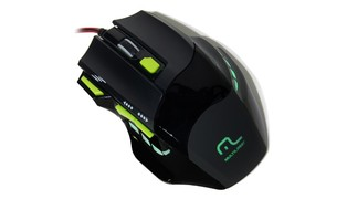 MOUSE OPTICO GAMER 2000 DPI LED VERDE USB MO208 - MULTILASER
