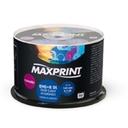 MIDIA DVD DUAL LAYER PRINTABLE 8.5GB TUBO COM 50 UN - MAXPRINT