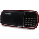 MINI SPEAKER HZ-T2 CARTAO SD/USB BATERIA INTERNA VERMELHO - HARDLINE